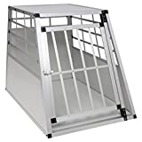 EUGAD Hundebox/Transportbox/Hundetransportbox Aluminium 1 Türig Reisebox Gitterbox Box 0044HT