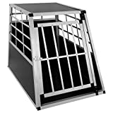 EUGAD Hundebox Transportbox Hundetransportbox Aluminium 1 Türig Reisebox Gitterbox Box 0042HT