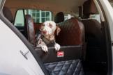 Dogstyler® für die Rückbank Earl Coffee Bar S - L Hundebox Kunstleder Hund im Auto sichern