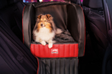 Dogstyler® Trend für die Rückbank London S - L Hundebox Kunstleder Hundesitz Hund im Auto