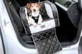 Dogstyler® Excelsior für die Autositze White Night XS - S Hundebox Kunstleder