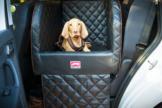 Dogstyler® für die Rückbank Earl Black Baron S - L Hundebox Kunstleder Hund im Auto sichern
