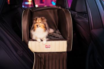 Dogstyler® Trend für die Rückbank Venezia S - L Hundebox Kunstleder Hundesitz Hund im Auto